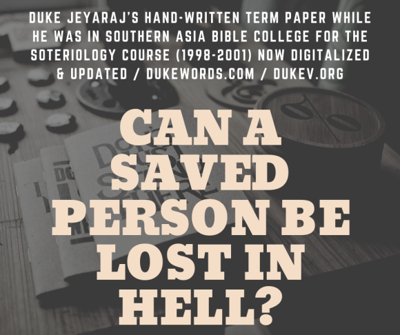 a saved person_ can he be lost in hell_